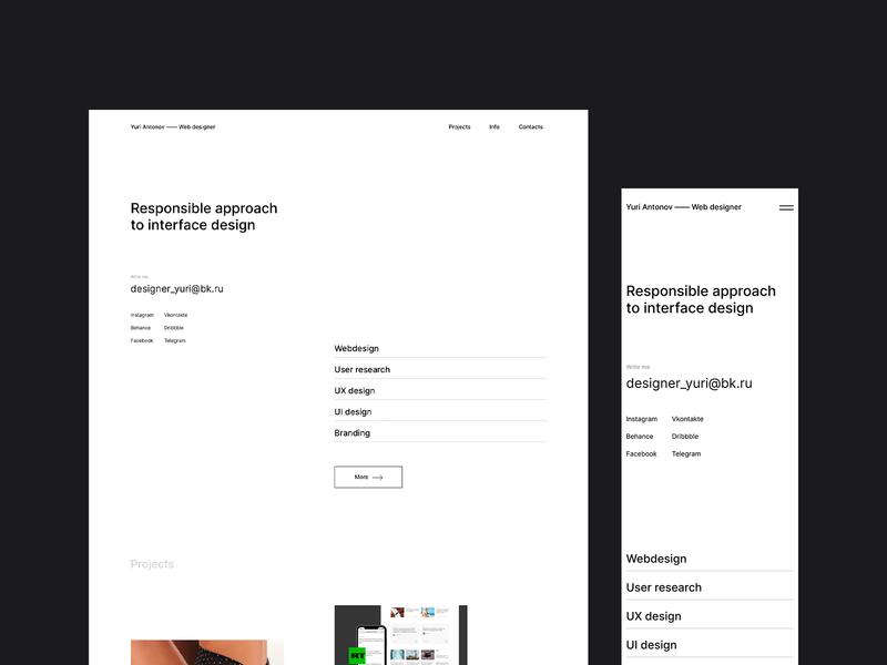 Portfolio Website. minimalism research uxdesign uidesign portfolio website web webdesign