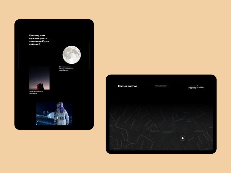 Sale of land on the moon adobe xd ux ui