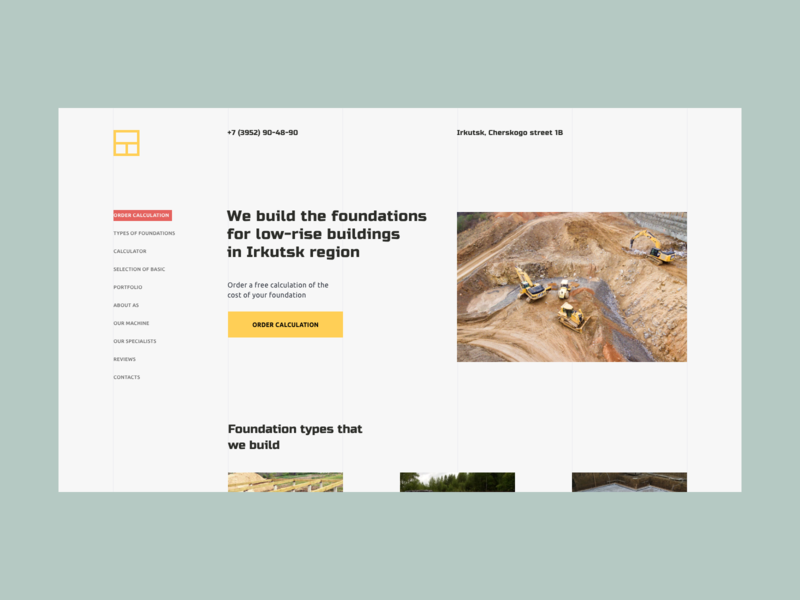 Foundation construction minimal adobe xd ux ui
