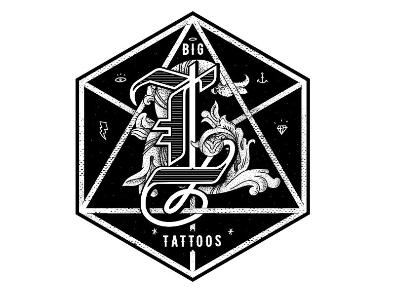 Big L Tattoo Logo Design by Bushy on Dribbble