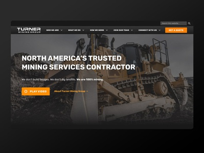 TMG Homepage construction website construction company masculine mining construction ux-ui web ux design wordpress web design
