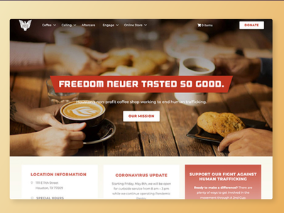 A 2nd Cup Website ecommerce non-profit nonprofit advocacy food cream red retail coffeeshop coffee web design design wordpress webdesign web