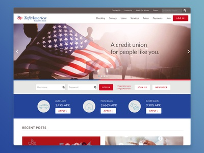 Website: SafeAmerica Credit Union web ux design wordpress web design ux-ui