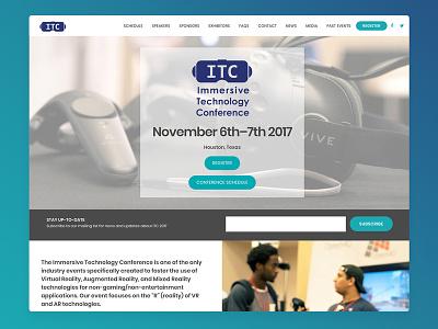 Website: Immersive Technology Conference registration event web ux design wordpress web design ux-ui