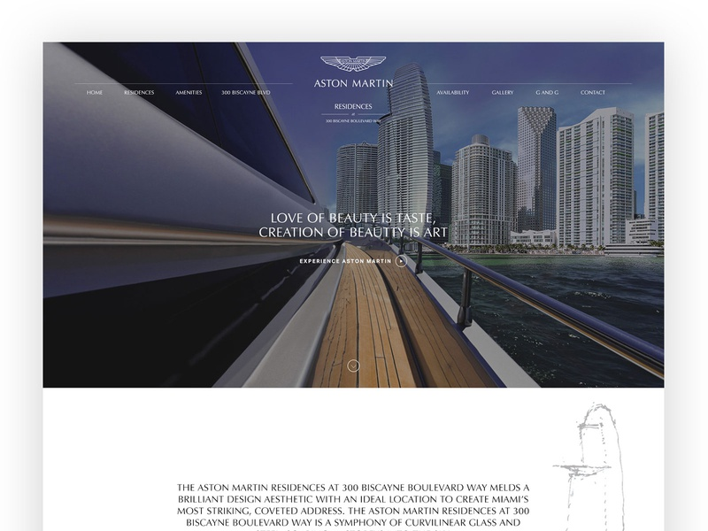 Web Design Aston Martin Residences