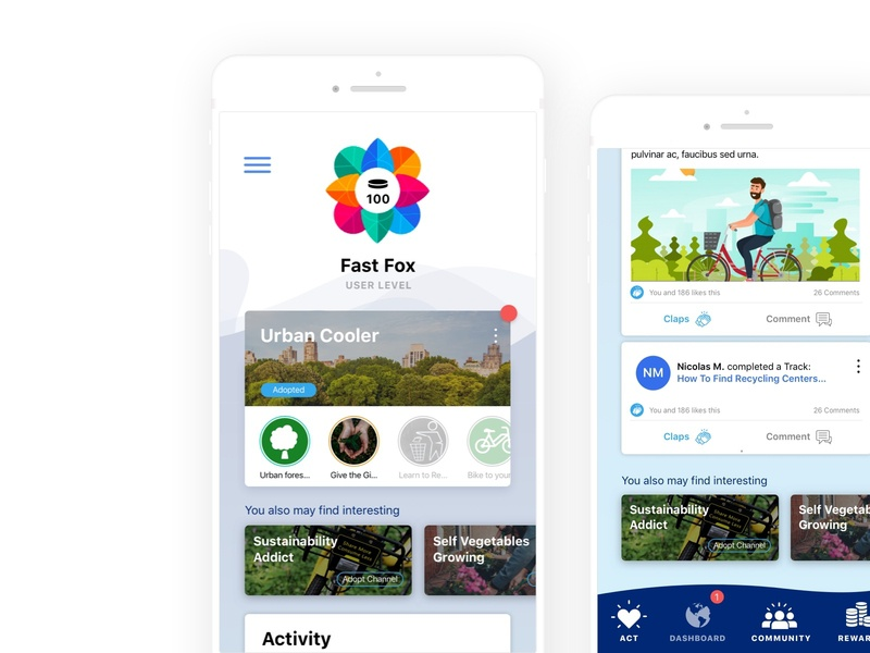 UX/UI for environmentally friendly Social Media