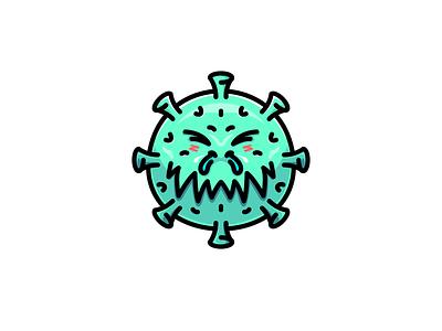 Corona Virus stay safe campaign pandemic sticker mascot cute character logos logo sick virus covid-19 coronavirus