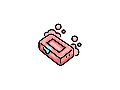 Soap mascot character cute vector cartoon logo soap