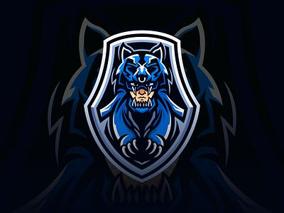 Warrior vector team logo team wolf warrior shield gaming game esport sport logo