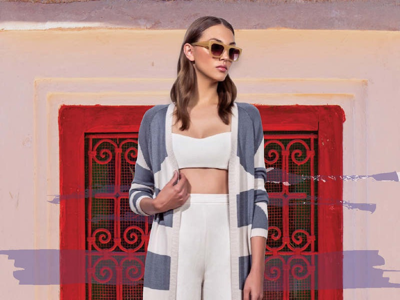 Moroccan Inspired digital collage design mara hoffman collage resort fashion