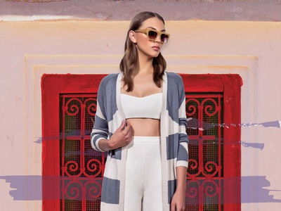 Moroccan Inspired digital collage design mara hoffman collage resort fashion