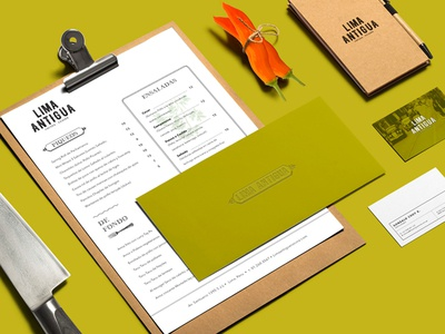 Lima Antigua Restaurant food graphic design design peru restaurant identity branding