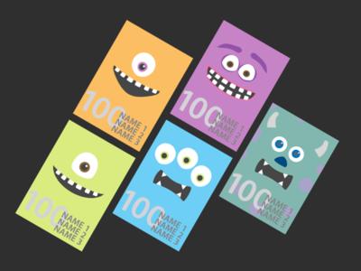 Monsters Inc. Posters monsters vector graphics pixar disney illustration graphic design monsters inc