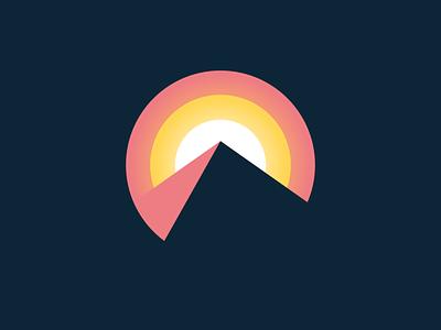 Breakthrough icon breakthrough sun mountain logo design logo