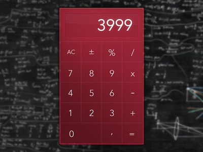 Calculator ca whitespace dailyui