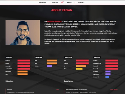 Portfolio Design redesign portfolio