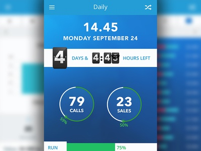 Sell app - Daily stat
