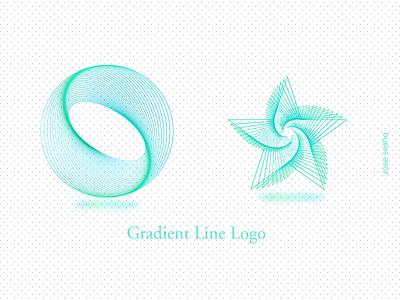 Gradient Line Logo ui illustrator line logo web mobile design icon logo