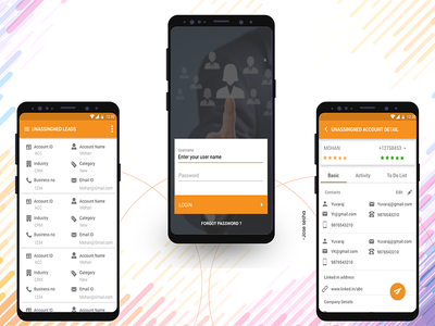Leads Categories mobile design xd ux ui