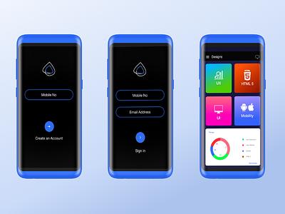 Design Startergy signin login ux ui android bluelove mock design