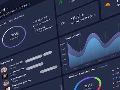Web Dashboards circle businees webdesign layout design dashboard