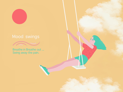 PMS - How to cope up with it ? women periods golden hour digital artist graphic design digital sketch digital illustration illustration cloudy swing mood swings pms