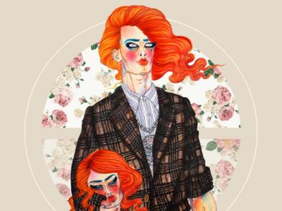 Fashion illustration  -  Gucci AW 18 fashi