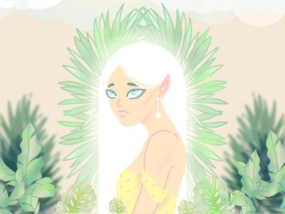 Flora Nymph queen 2d art characters wip ancient mythology nymph digital art digital illustration illustration graphic design vector design character design