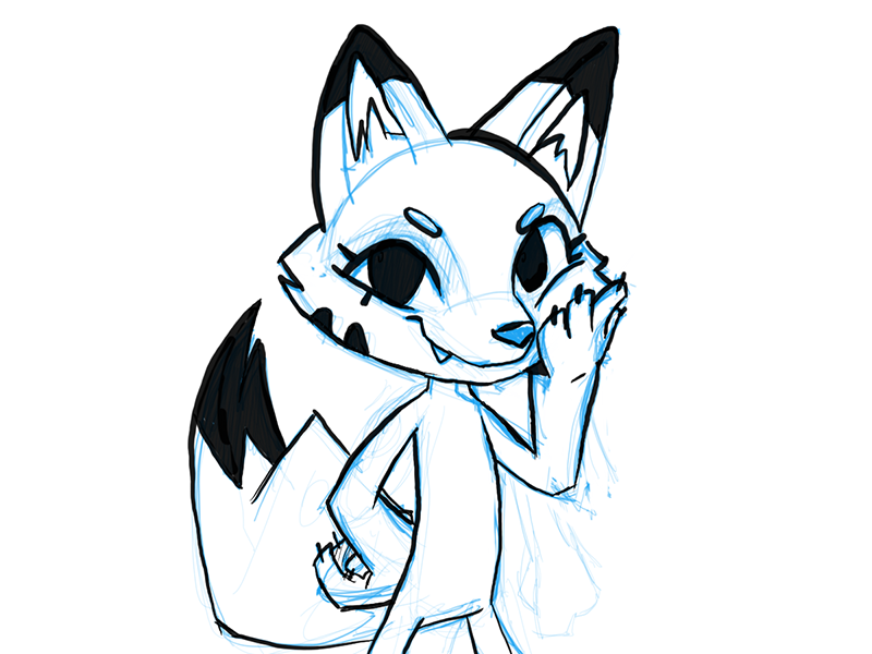 WIP - Flurry the Fox! character design twitch fox work in progress concept sketchbook pro illustraion mascot