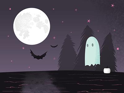 Trick Or Treat glow in the dark trick or treat spooky pumpkin ghost moon bats halloween