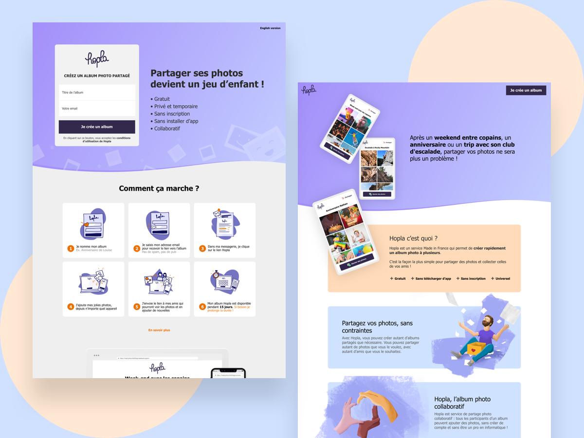 Hopla website