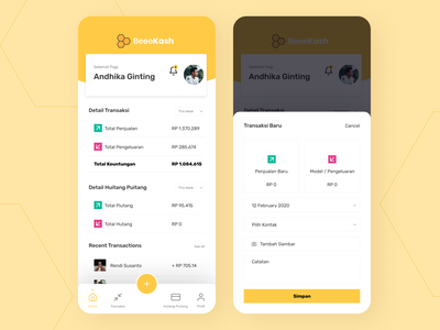 Financial Application UI Design user experience user interface design cash finance financial app finance app ui
