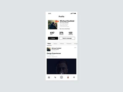 Profile UI Design profile page product design profile design app ux logo ui