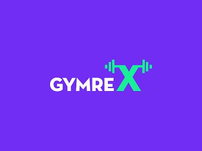GymreX Logo fitnesslogo logodesign design logo kashmir typography gym logo gym