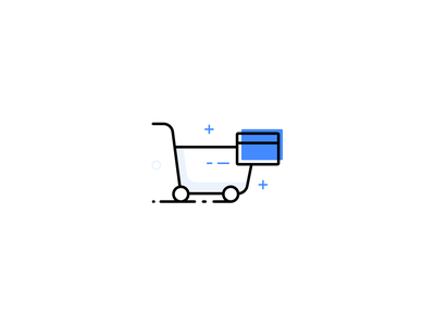 Shop On EMI Icon credit card loan ecommerc idea asset icon artwork icon a day finance shopping iconography icon illustration