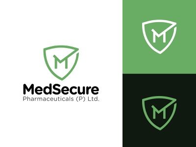 MedSecure Pharmaceuticals Logo Design icon artwork iconography app logodesign typography design branding illustration icon print pharmaceutical company logo