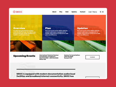 SKICC Homepage Concept Design typography flat animation web srinagar ui ux design branding kashmir