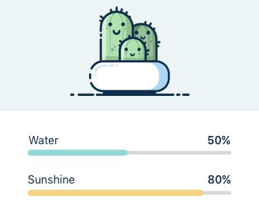 Plant Watering App ui ux isoflow mobile gradient colorful illustration app plant