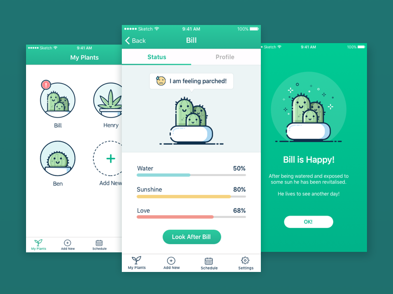 Plant Watering App By Amy Holley Hirst Dribbble