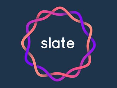 Slate Translation App logo isoflow gradient design ux ui translator colorful apple watch