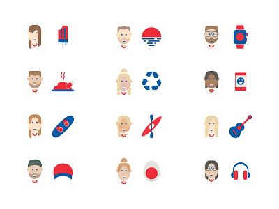 Personalised Team Mugs character design mugs team design avatars icons branding illustration