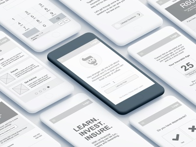 Finance App Wireframe gray axure ux prototype wireframe mobile finance