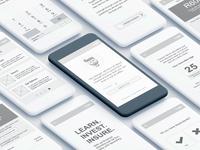Finance app wireframe