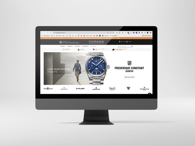Forges Watches jewellery website webdesign jewellery jewelry watches ecommerce shop branding ui design