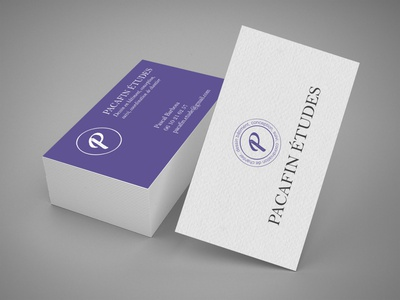 Logo and visit card Pacafin Etudes visit card vector logo card graphicdesign ui branding adobe design
