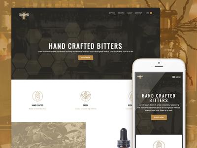 Beehive Bitters Website