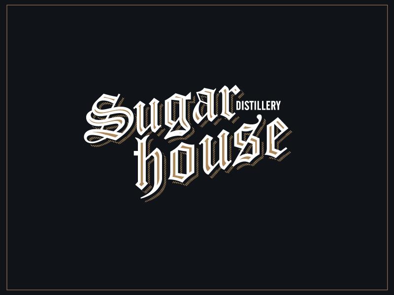 Sugar House Distillery alternate gothic gothic logo liquor distillery blackletter type