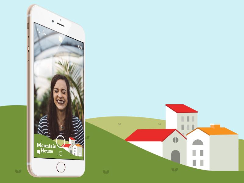 Snapchat Geofilter illustration houses geofilter snapchat