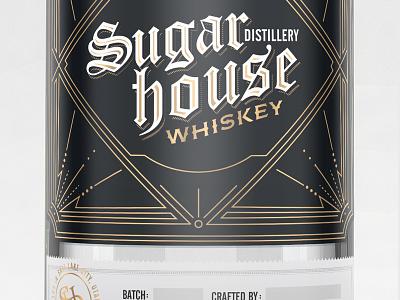 Sugar House Distillery whiskey alternate gothic gothic type blackletter distillery liquor logo