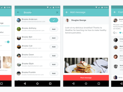 Welbe Android ui ux app design mobile wellness android